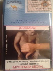 Found on a pack of Bolivian cigarettes
