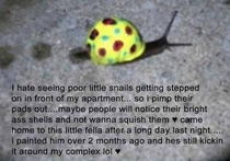 Found on my Facebook feedsave the snails