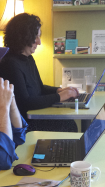 Found Snape in a coffee shop