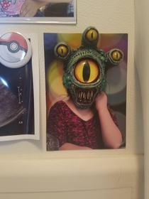 Found the perfect magnet to go with my kids school picture