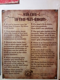 Found these man cave rules in the bathroom of my local bar