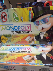 Found this absolute shambles monopoly for millennials