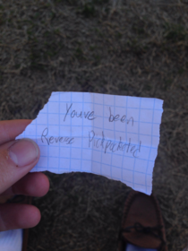 Found this in my pocket at school