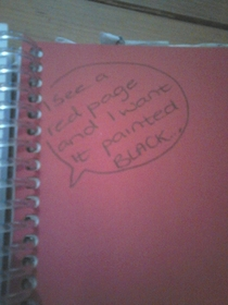 Found this in my sisters homework planner shes