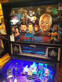 Found this modified pinball machine