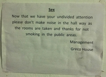 Found this notice at a quaint little hotel haveli in Udaipur Read this and died laughing