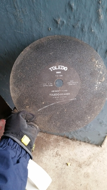 Found this vintage record in my grandpas garage Use Safety Guard by Toledo Listened to it last night I didnt know he liked dubstep