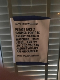 Found this when I went trick or treating on Halloween
