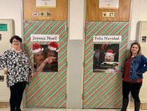 French and Spanish class decorated their doors