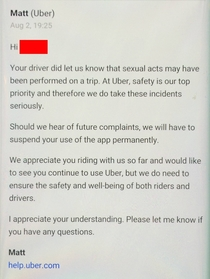 Friend Blacked Out and Got this Email from Uber the Next Day