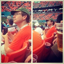Friend caught this man creeping on her at the Dolphins football game she acted accordingly