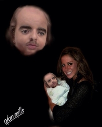Friend of mine asked me to photoshop a picture of her and her newborn into a nice portrait She was not pleased