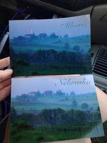 Friend of mine is currently travelling across the country She found these postcards and was not impressed