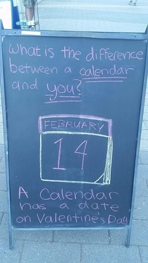 Friend posted this on FB Date on Valentines