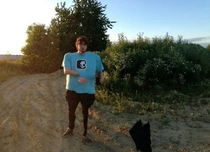 Friend took a failed panoramic of me