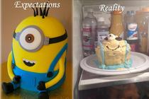 Friend Tried To Make Despicable Me Minion Cake