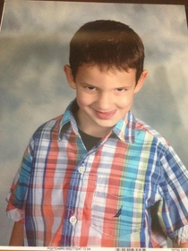 Friends Nephew got his school picture in