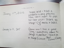 From an airbnb guestbook I think Shane is two-timing Anna