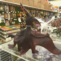 From this angle this pterodactyl toy looks like one of those trenchcoat nudist flashers