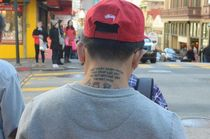 Funny as hell tattoo that I snapped in Chinatown San Francisco