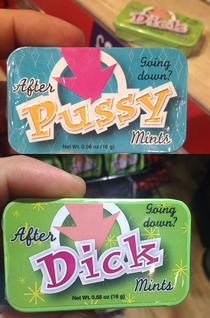 Funny mints found by friend visiting London