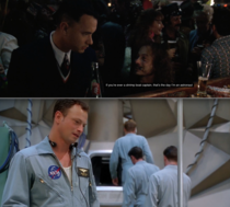 Gary Sinise was pretty good at foreshadowing