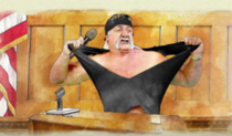 Gawker has declared bankruptcy after losing a lawsuit from Hulk Hogan For those wondering how Hogan won and Gawker lost so big consider this courtroom sketch of the Hulkster testifying