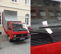 German city of Karlsruhe just issued a parking ticket to Austrian artist Erwin Wurm for one of his bent car sculptures