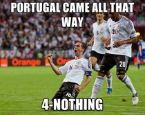 Germany fans on Portugal