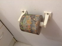 Gf got me camo toilet paper but now I just cant tell if I have to wipe again