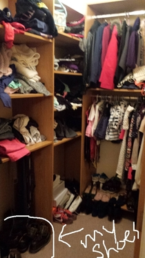 GF told me she has no room anymore in wardrobe because of my stuff