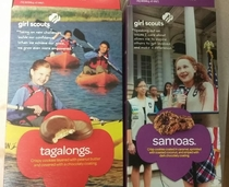 Girl Scouts Celebrating in-focus redheads and blurry brown girls