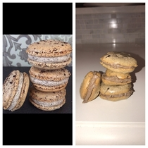 Girlfriend and I made the Oreo macaroons that were on the front page