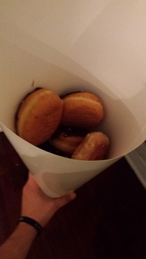Girlfriend jokingly asked for a bouquet of donuts rather than flowers