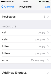 Girlfriend wants a kitten but Id like a puppy After more than  months of quietly waiting she finally discovered my Autocorrect trojan horse on her phone