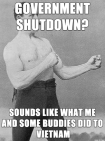 Girlfriends grandfather has a different take on the shutdown