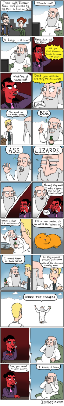 God Vs Satan Fossils