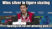 Good Guy Canadian athlete Patrick Chan at the Olympics