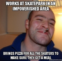 Good Guy city worker makes sure the kids dont go hungry