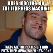 Good Guy Greg at the gym today deserves recognition