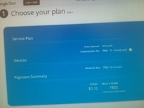 Goodbye Time Warner This is the TOTAL Google Fiber bill for  years of Internet