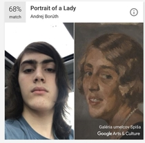 Google Arts amp Culture trolling my  year old perfectly