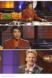 Gordon Ramsay adding some sense to the kitchen
