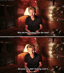 Gordon Ramsay reads a Christmas cracker joke