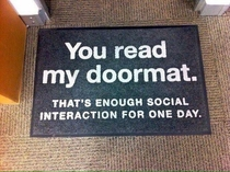 Got a new doormat today