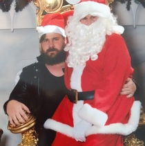Got a pic with santa He said I was too big We compromised