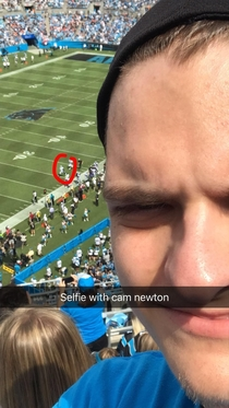 Got a picture with cam newton today