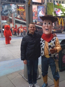 Got a picture with Woody in Times Square