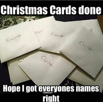 Got my Christmas cards finished early this year