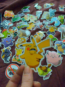 Got Pokmon stickers today one wasnt like the others